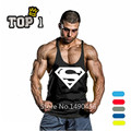 Superman Gimnasios Singlets Tank Tops Mens Shirt, Equipos de Fitness Culturismo Hombres Ropa Gymshark Tanque Stringer Oros de Gimnasios