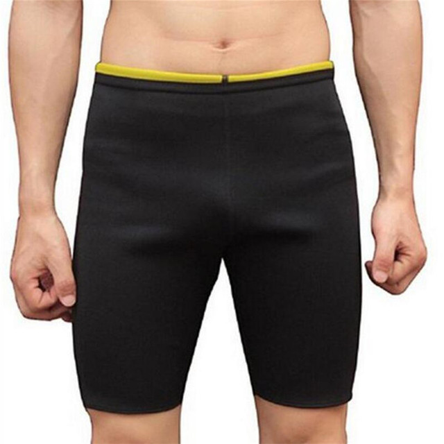 5db1a5ca0f Men Slimming Body Shapers Super Stretch Shorts Pants Hot Sweating Neoprene  Fitness Weight Loss Burn Fat Sporters Control Panties-in Shapers from  Underwear ...