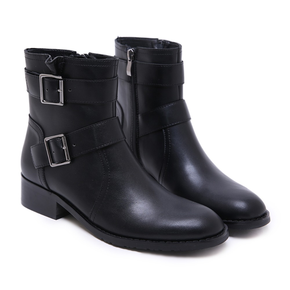 Euramerican Chaussures Ronde Bottes Tête De Style Hiver Avec Court Pour Scooter Bas Femelle Femmes Velours qxxw6R