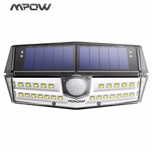 MPOW 30 LED Garden Solar Light IP66 Waterproof Solar Lamp Wide Angle Solar Motion Sensor Light for Pathway/Garage/Swimming Pool