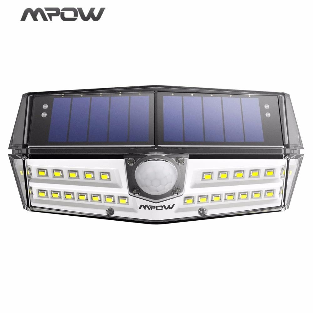 Mpow 30 светодиодный сад Солнечный свет IP66 Водонепроницаемый солнечный светильник Широкий формат солнечная движения Сенсор свет для пути/гараж/ бассейны