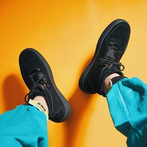 Image 4 - Aelfrec Eden/ботинки на плоской платформе с эластичным ремешком на шнурках для мужчин, модные мотоциклетные кроссовки, AE27, 2019