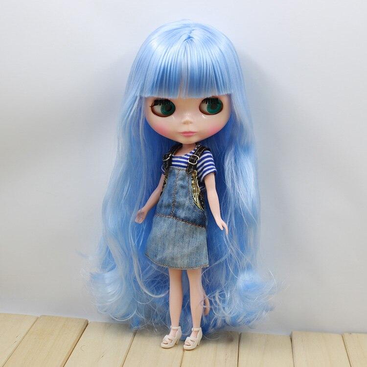 12 мода куклы голубой с челкой длинные волосы милые куклы обнаженная блайт куклы для продажи