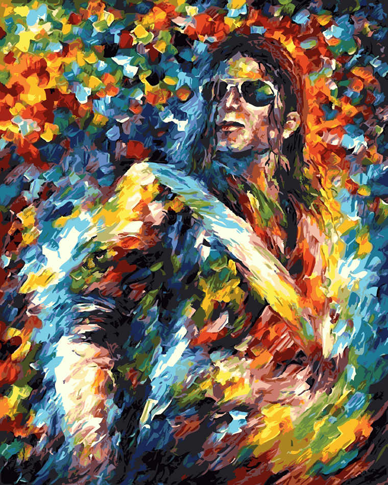 Michael Jackson Guitarist E Clapton heavy metal music Painting By Numbers Paint Coloring Painitng By Numbers For Home Decor