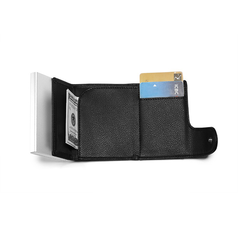 ZOVYVOL 2019 New PU Leather Card Wallets Aluminum Single Box RFID Blocking Package ID Holders Credit Card Holder Men and Women in Card ID Holders from Luggage Bags