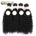 8А класс Вьющиеся Переплетения Человеческих Волос 100 г Малайзии Вьющиеся Волосы Лучший Странный Вьющиеся Девственные Волосы Малайзии Девственные Волосы 4 пучки