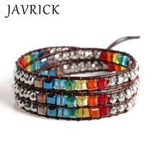 Seven Chakra Bracelet Beaded Bohemian Style Lucky Stone Color Weaving Handmade Women Bracelets Jewelry Girls Gifts