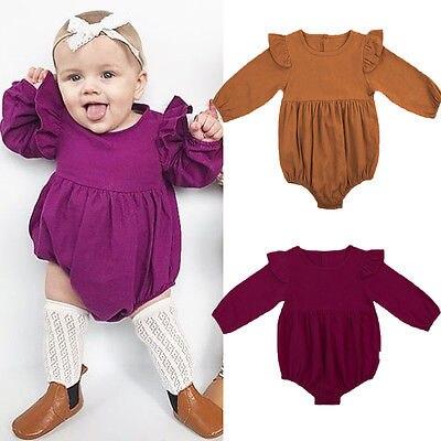 2017 Hot Leuke Pasgeboren Peuter Baby Meisjes Kids Vlinder Mouwen Romper Outfits Jumpsuit Kleding