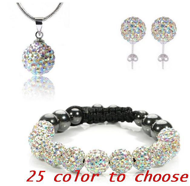 1bb25b904934 ᗑ10mm mixto venta al por mayor de moda conjunto pulsera eearring ...
