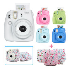 New 5 Colors Fujifilm Instax Mini 9 Instant Photo Film Camera Kit Set with PU Carrying Case Shoulder Strap, Use Instax Mini Film(China)