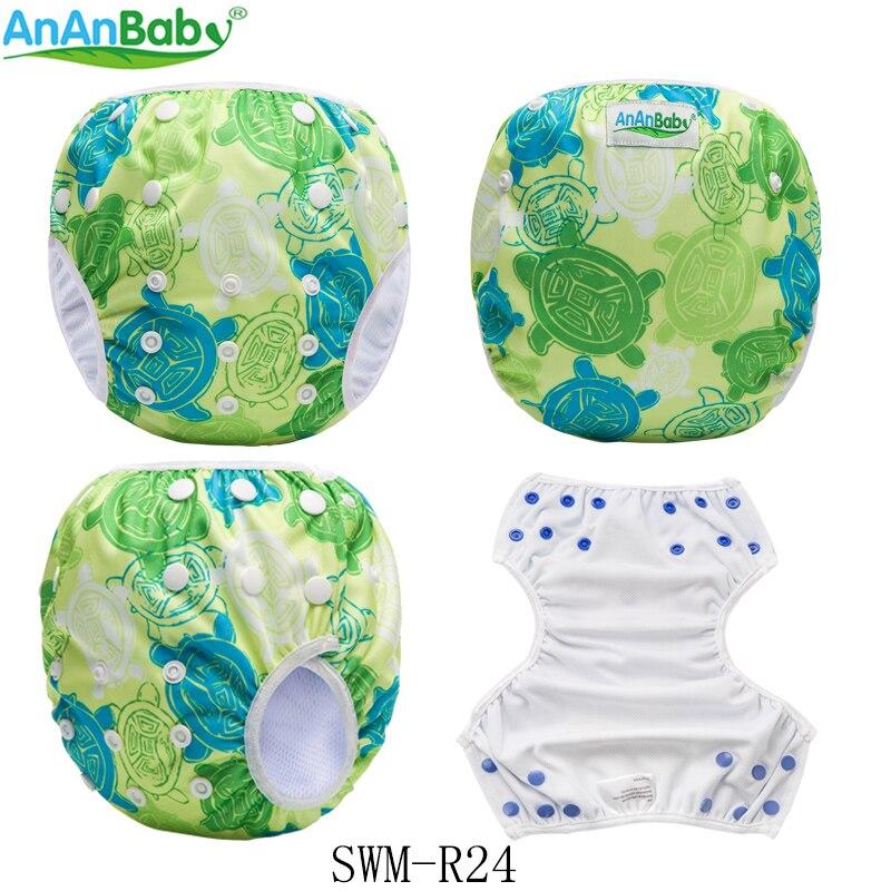 Ananbaby 2018 Popular Swim Diaper for Babies Reusable Swimwear Training Pants Swimming Pool