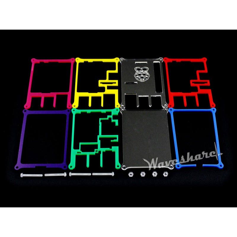 Modules Multi Color Case/Box/Cover for Raspberry Pi 2/3 B Rainbow Case B Allows Working With Raspberry pi LCD and Expansion Boar
