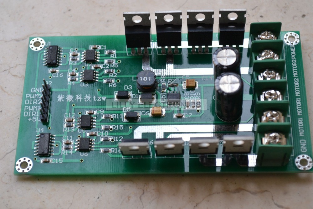 3 36v 10a peak 30a dual motor driver module board h bridge. Black Bedroom Furniture Sets. Home Design Ideas