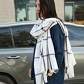 2016 Adult Wool Scarf Sale Bufandas Winter Scarf Brand Women Prorsum Cashmere Monogramed Cape Plaid Check Blanket Bufanda Manta