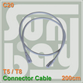 T5 T8  Power cords cable both side the tube connector 3 pin sockets 200cm  wire for T5  T8 integrated tube