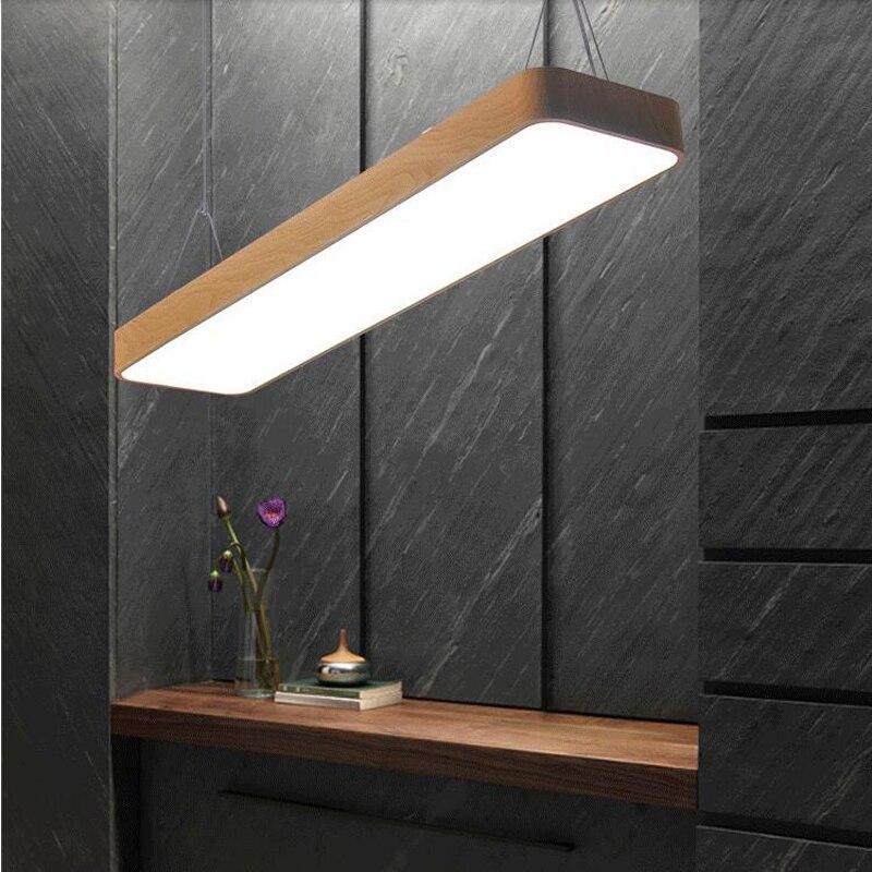 Angoli arrotondati Ufficio lampadari, imitazione legno lampadari, moderno luci ufficio, L120cm