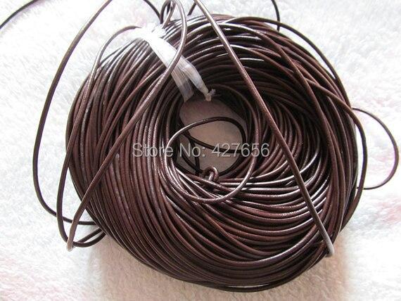 100yds 3mm zwart/bruin lederen koorden string rope, sieraden kralen string, Voor armband, diy accessoire sieraden-in Sieraden bevindingen & Componenten van Sieraden & accessoires op  Groep 1