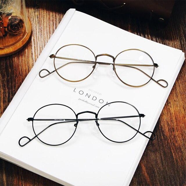 7777608bf6f8ba MOLGIRL Nieuwe Mode Mannen Vrouwen Optische Brillen Retro Ronde Bril Clear  Glas Merk Designer Transparante Vrouwen