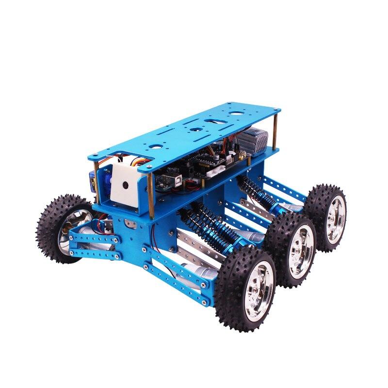 Arduino 6WD Fuori Strada Kit di Robot di Ricerca e salvataggio smart car chassis piattaforma 6 drive telaio in alluminio-in Componenti e accessori da Giocattoli e hobby su  Gruppo 1