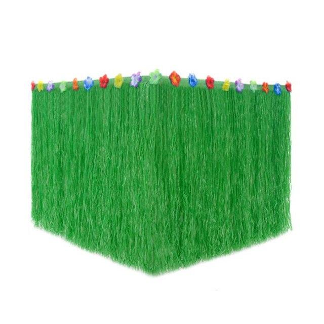 Красочные Луо трава Хула цветок настольная юбка посуда настольное платье Гавайи танцевальное оформление Поставки Рождество Хэллоуин