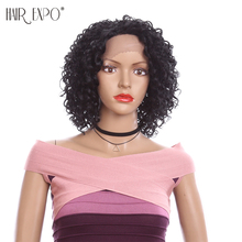 Kinky Curly Lace Front Wigs Heat Resistant Synthetic Lace Wigs for Daily Wear Soft Glueless Hair Replacement Hair Expo City