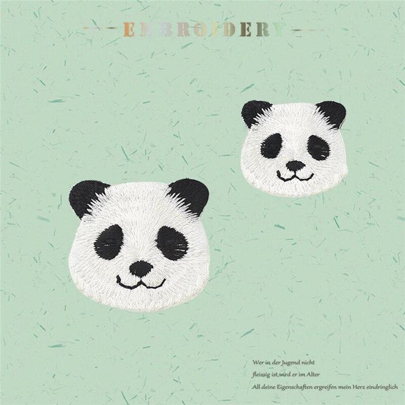 Ahyonniex Marque Mignon Dessin Animé Grand Petit Panda Patch 2018 Nouveau Animal Fer Sur Patchs Pour Enfants Robe Jeans Petit Bricolage Applique