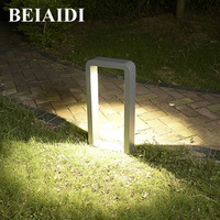 BEIAIDI Waterproof LED Garden Lawn Light 10W Corridor Pathway Bollard Light Waterproof Community Villa Landscape Pillar Lamp