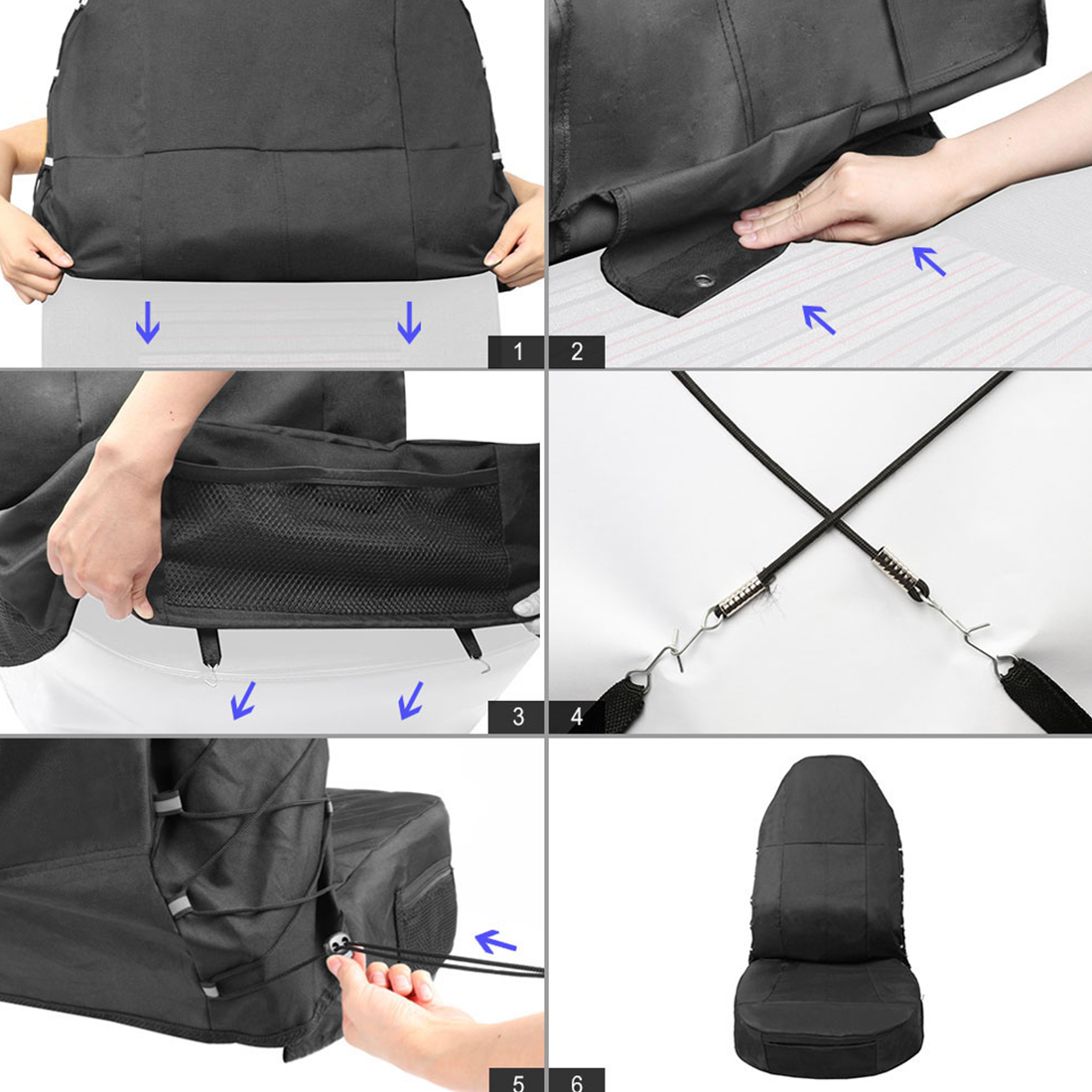 Dewtreetali Full Cover Waterproof Universal Car Seat Covers Single Front Seat Seat Protector Dustproof with Pockets Car styling in Automobiles Seat Covers from Automobiles Motorcycles