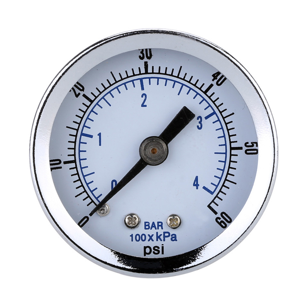 Manometer Pool Filter Water Pressure Dial Hydraulic Pressure Gauge Manometre Pression 1/4