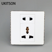 Quality White Frame Panel 2 Pins 3 Holes Electric Power Socket For Worldwide Using Plug Outlet цены онлайн