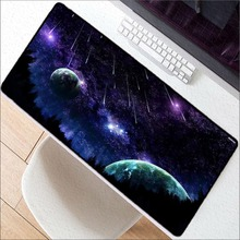Mairuige Free Shipping Outer Space gamer play mats Lockedge Large Mousepad Size for 300*600*2mm and 400*900*2mm Design Mouse Pad