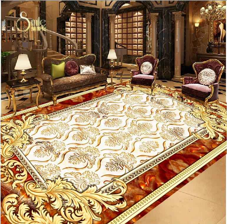 3D PVC floor wallpaper PVC waterproof floor Custom Photo self-adhesive 3D floor Home Decoration 3d walpaper floors scroll 203x153