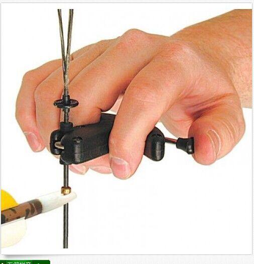 O envio gratuito de alta qualidade caça seta liberação para arco tiro com arco, pçs/lote