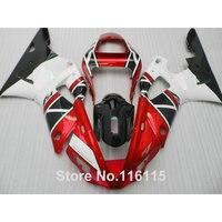 Высочайшее качество обтекатели комплект для YAMAHA YZF R1 2000 2001 black красный белый пользовательские обтекателя kit R1 00 01 литье под давлением 316