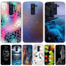 Phone Case For LG K8 K350N K350DS LTE K350E Escape 3 K373 Phoenix 2 Soft Silicone Back Cover Case For LG K7 K10 Leon Spirit Bags(China)