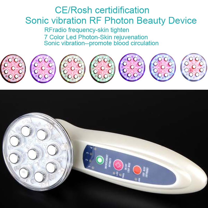 Portable Handheld Home Use RF EMS Radio Frequency Bio Microcurrent Facial Warming Body Skin Lifting Tightening Beauty Device portable rf skin tightening facial machine for home use