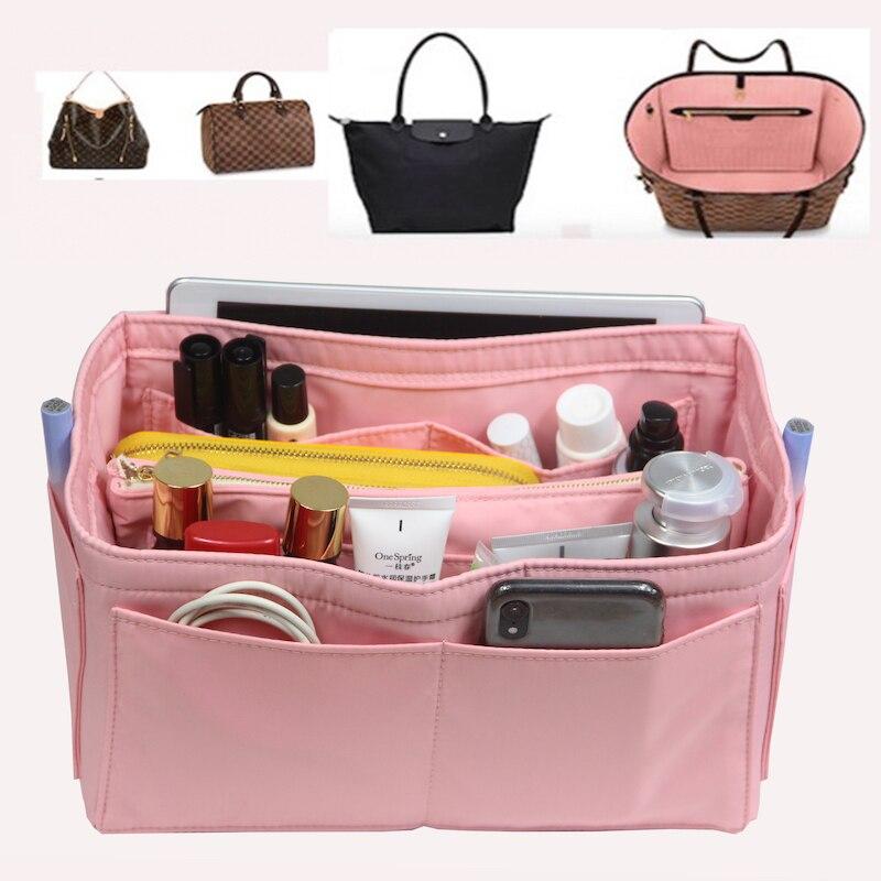 Neverfull MM PM GM  Speedy 30 Purse Organizer Waterproof Oxford Cloth Handbag Organizer Bag In Bag Tote W/Detachable Zip Pocket