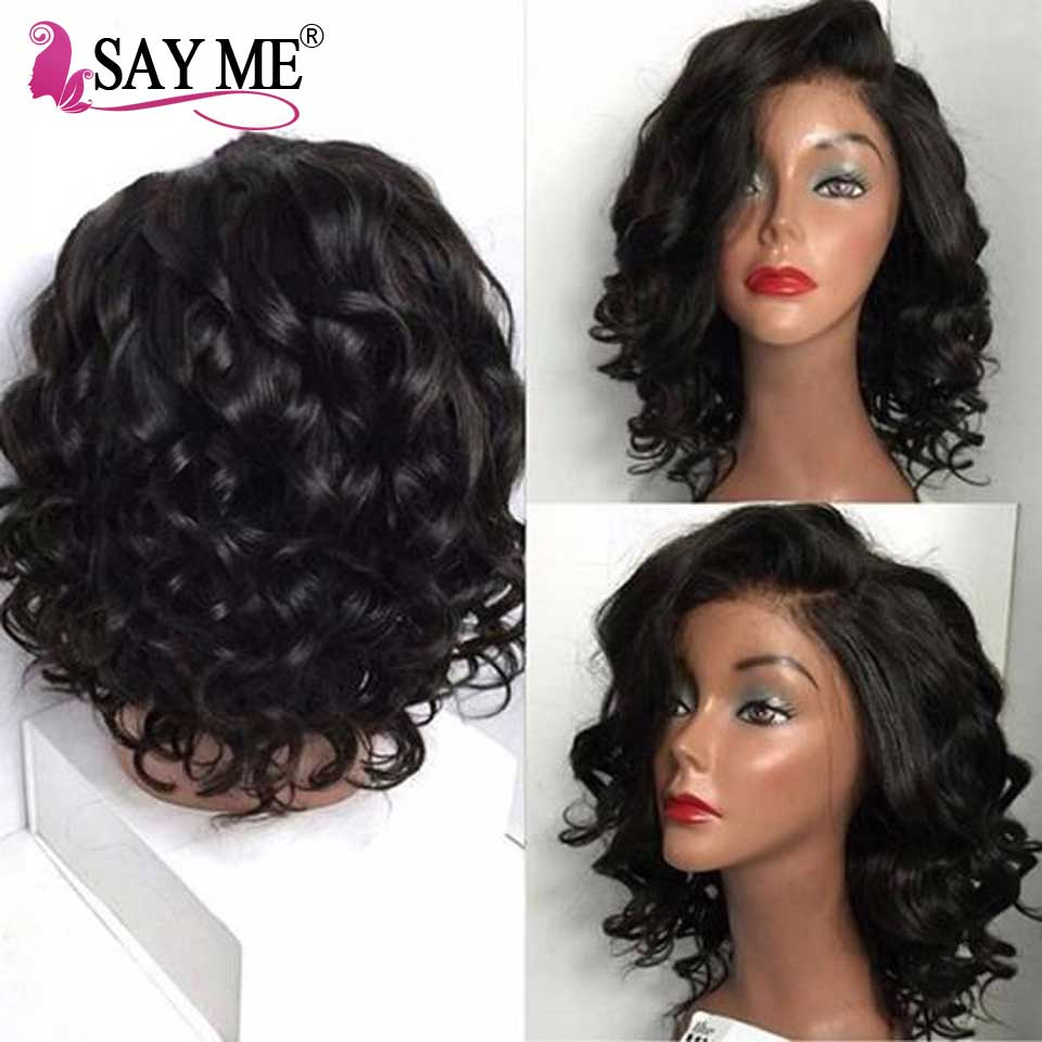 Lace Front Funmi Hair Wig Brazilian Lace Front Human Hair Wigs 150 Density Pre Plucked Bob Remy Hair Wigs For Black Women