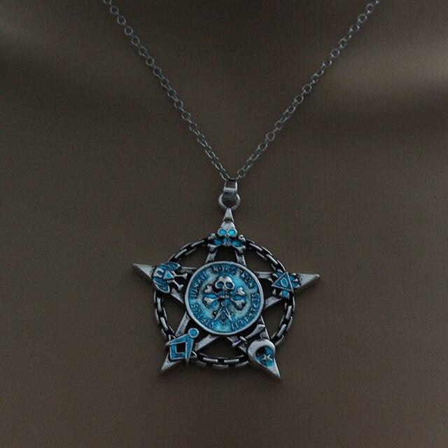 Luminous Star Skull Pendant Necklace6