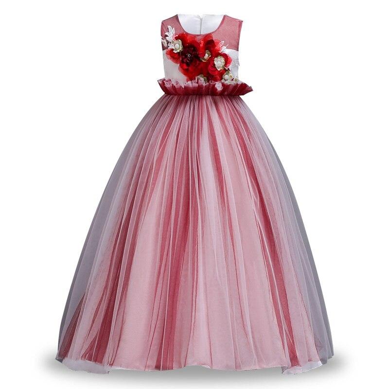 Prinzessin Party Kleid für Mädchen Hochzeit Spitze Blume Mädchen ...
