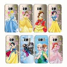 Castle Princess White Snow Prince Cartoon Phone Case Back Cover Silicone Soft for Samsung S8 S9 s10 plus c7 c8 c9 c5 pro