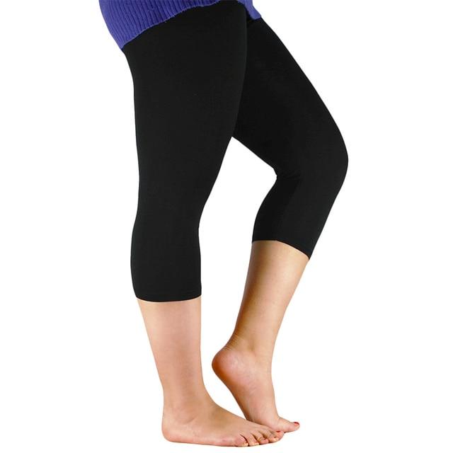 2019 Solid Leggings Women Fashion High Waist Workout Bamboo Fiber Leggings Jeggings Plus Size Leggings Trousers For Women 7XL 2