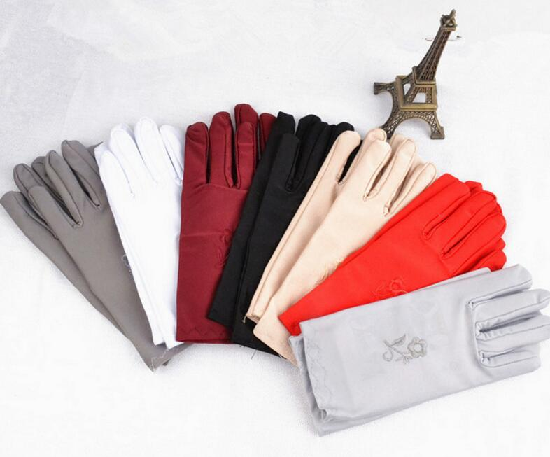 embroidery women gloves