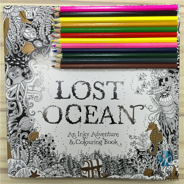New Coloring Book : New lost ocean coloring book adult hand drawn