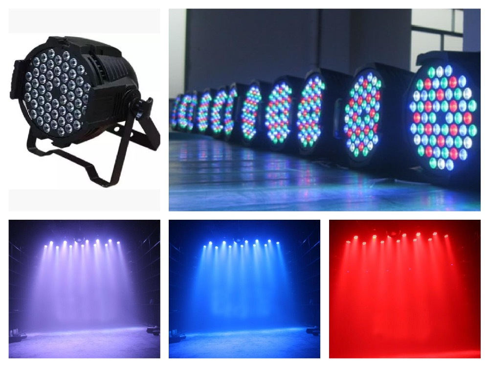6pcs/lot, LED par 54x3W RGBW Light par64 can light rgb stage light decoration dmx wedding party bar stool lighting disco 8pcs lot 24x18w led par light rgb par64 dmx par stage lighting