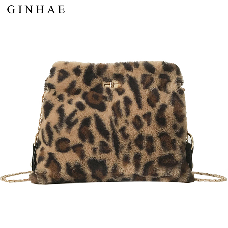 1a4e9ae10f93 Detail Feedback Questions about Fashion Leopard Female Plush Clutch Bag  Faux Fur Messenger Shoulder Bag For Women 2018 Ladies Chain Crossbody Bag  Bolsa ...