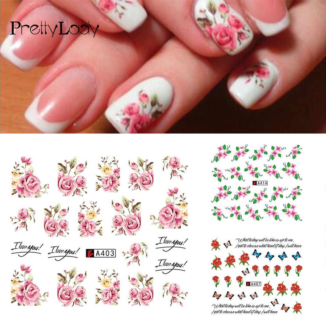 FOCALLURE 1Sheet 3D Flower Nail Stickers Polish Foils Nail Art Manicure Tips Sticker Decals DIY Decoration Beauty Nail Tools 7 yesurprise 3d women beauty 1pcs black lace glitters nail art tips manicure stickers decal tattoos diy decoration gift h006