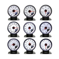 No Logo 60MM White Face Boost turbo,Water Temp,Oil temp,Oil press,Voltmeter, Air/fuel ratio,EGT,Tachometer Auto Gauge/Car meter