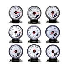 Нет Логотипа 60 ММ Белое Лицо turbo Boost, Температура Воды, температура Масла, давление Масла, Вольтметр, соотношение воздух/топливо, EGT, Тахометр Автоматический Измерительный Прибор/Car метр