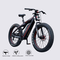 custom Carbon fiber electric snow bicycle 26inch fat ebike 48V750W BAFANG motor super lightweight Male female assisted bicycle